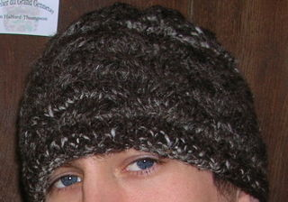 Brown cable hat