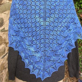 Blue Shawl outdoors