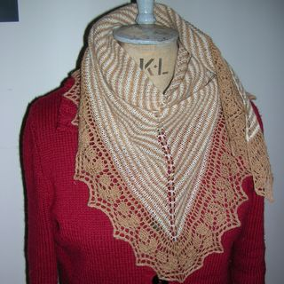 Rosed Edged Scarf on Margo