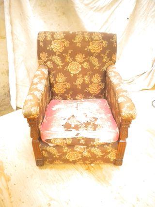 Armchair without cover