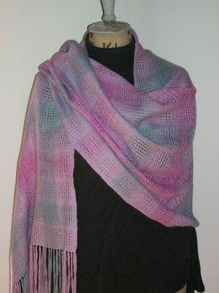 Huck shawl