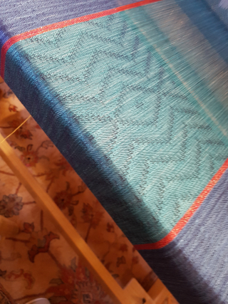 Blue shawl for plessis bourre 1