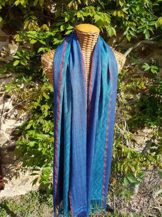 Blue shawl for plessis bourre 5