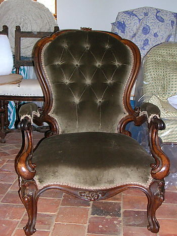 Victorian Button Back Lady's Chair